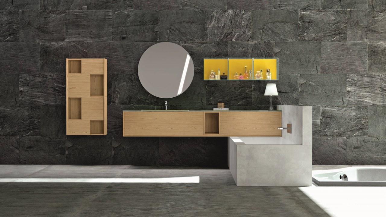 Modula 102 Badmöbel mit Waschtisch hochwertig