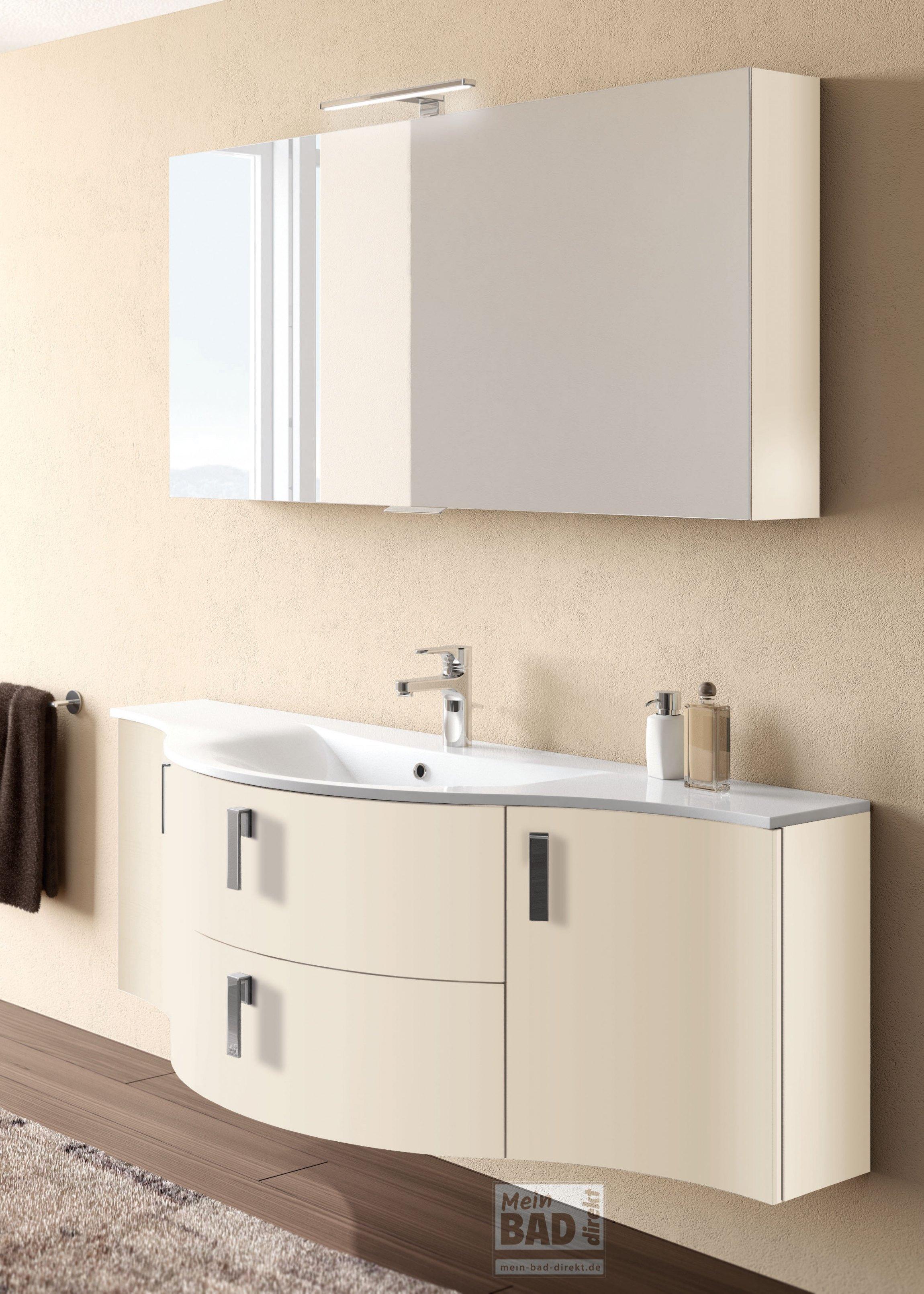 Badezimmermöbel konkav gerundet