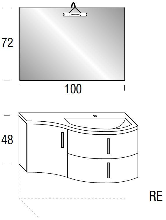 waschtischanlage mit toller rundung mein bad direkt. Black Bedroom Furniture Sets. Home Design Ideas