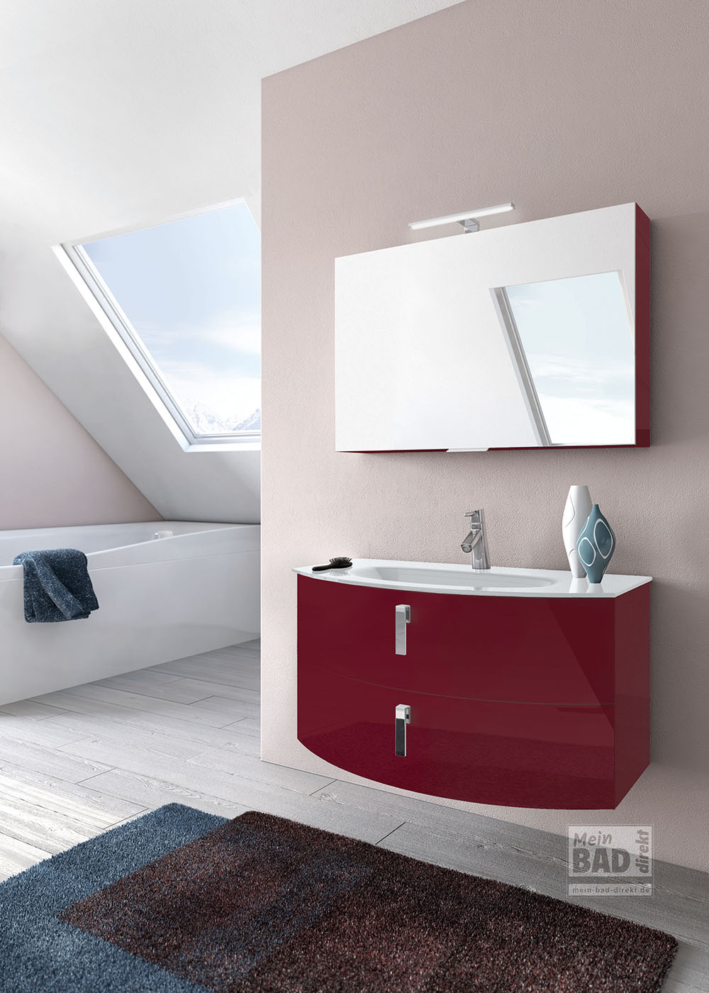 Das Moderne Bad Und Moderne Waschbecken Mit Badmöbel.  E 8_ML43308_151X_GL_RAL9016_1000_Badmoebel_Waschplatzt0U9xeByKqsN3