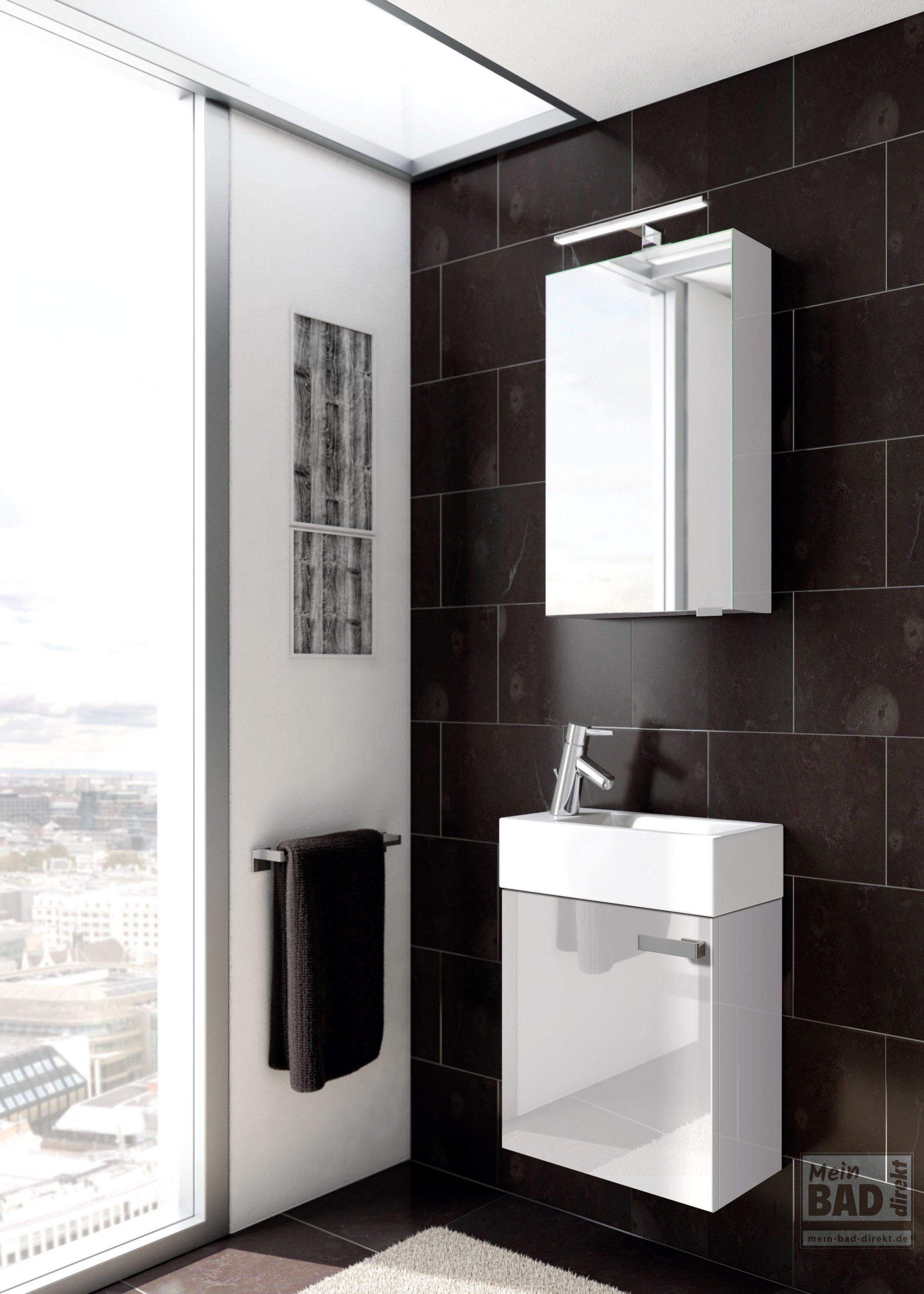 Badmöbel mit Waschtisch für Gäste WC und Gäste-Bad | Mein-Bad-Direkt